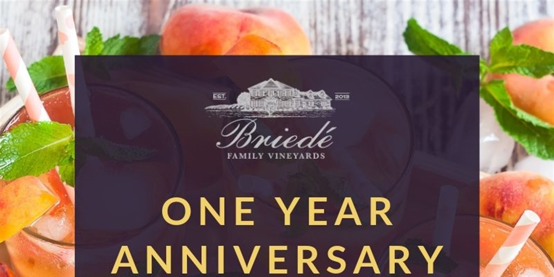 One Year Anniversary at Briede Family Vineyards
