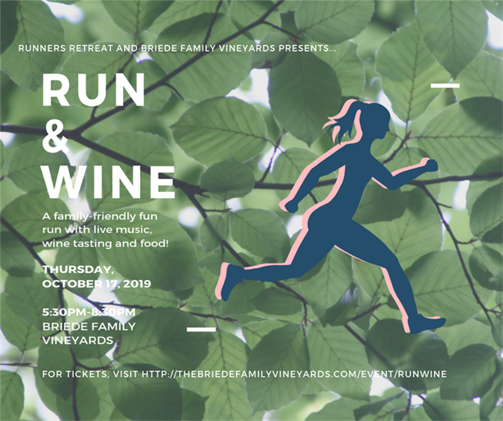Run & Wine with Briede Family Vineyards